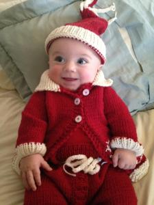 Landon in Christmas Picture Outfit